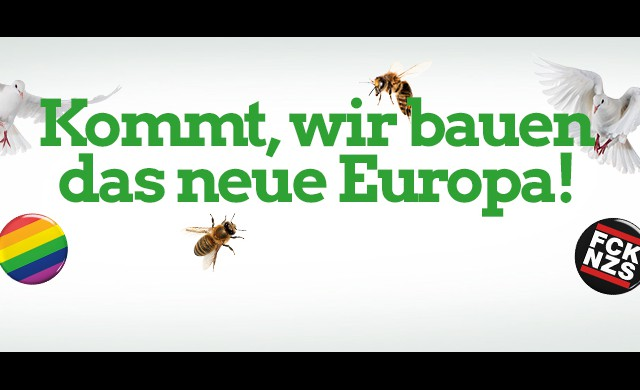 Plakat Europa bauen